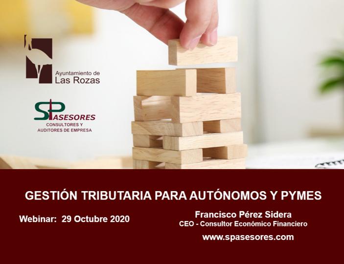 El Ayuntamiento de las Rozas confía en SP ASESORES para la formación sobre Gestión Tributaria para PyMEs y Autónomos